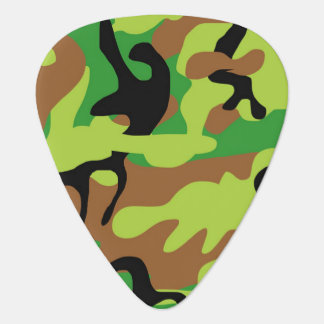 Crazy Green Camouflage Guitar Pick
