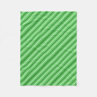 Crazy Green Stripes Fleece Blanket