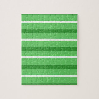 Crazy Green Stripes Jigsaw Puzzle