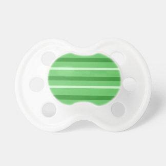 Crazy Green Stripes Pacifier