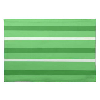 Crazy Green Stripes Placemat