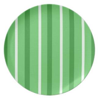 Crazy Green Stripes Plate