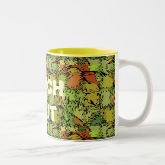 Crazy Greens Reach Out Two-Tone Coffee Mug