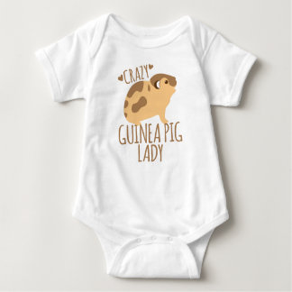 crazy guinea pig lady baby bodysuit