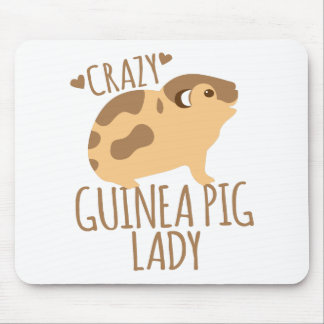 crazy guinea pig lady mouse pad