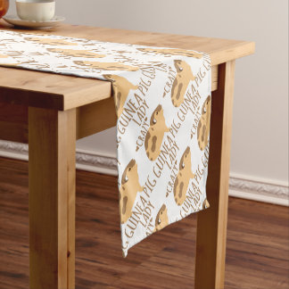 crazy guinea pig lady short table runner
