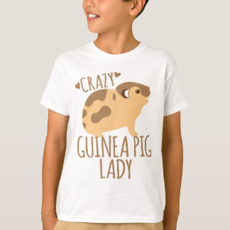 crazy guinea pig lady T-Shirt