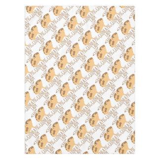 crazy guinea pig lady tablecloth