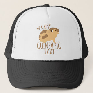 crazy guinea pig lady trucker hat