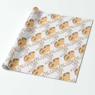 crazy guinea pig lady wrapping paper