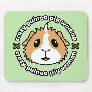 Crazy Guinea Pig Woman Mousemat Mouse Pad