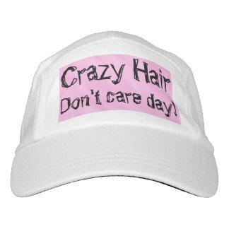 Crazy Hair Pink White Hat