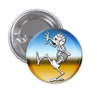 Crazy Halloween Skeleton 1 Inch Round Button