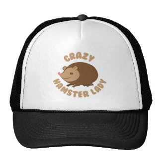 crazy hamster lady trucker hat