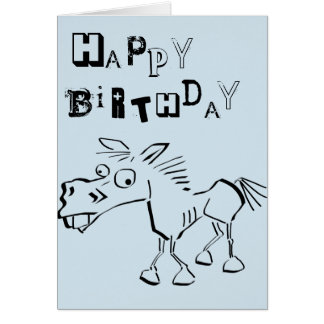 Crazy happy birthday card