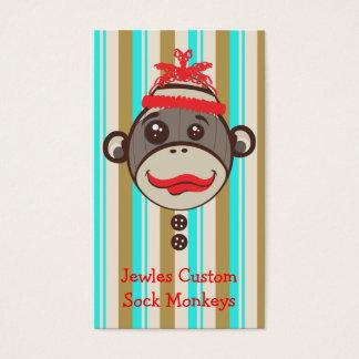 Crazy Hat Sock Monkey Etsy Desinger Creative Business Card