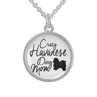Crazy Havanese Dog Mom Sterling Silver Necklace