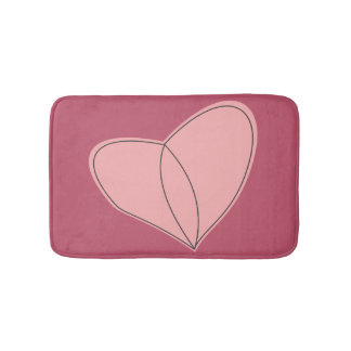 Crazy Heart Bathroom Mat