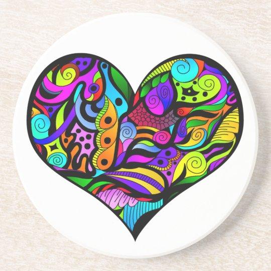 Crazy Heart Coaster