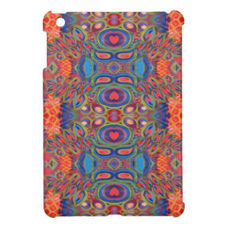 crazy heart pattern i-pad mini case iPad mini cover