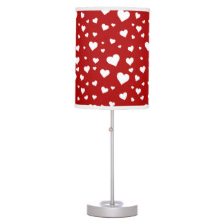 Crazy Hearts Red 2 Table Lamp