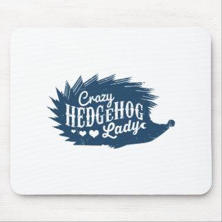 Crazy Hedgehog Lady Mouse Pad