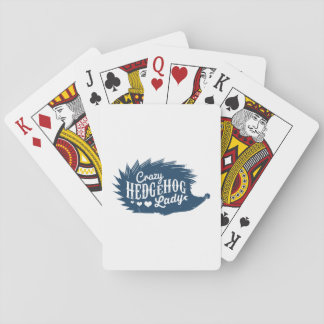 Crazy Hedgehog Lady Playing Cards