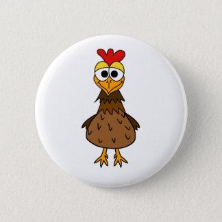 Crazy Hen 2 Inch Round Button