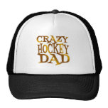 Crazy Hockey Dad in Gold Mesh Hats