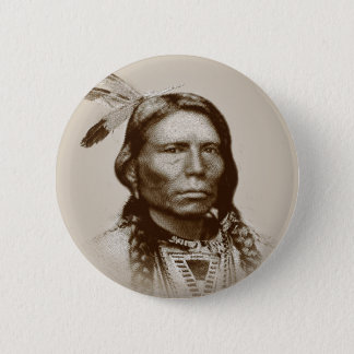 Crazy Horse 2 Inch Round Button