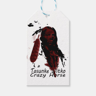 crazy-horse feather gift tags