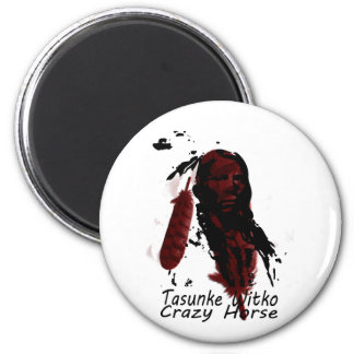 crazy-horse feather magnet