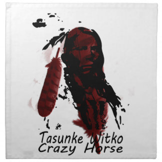crazy-horse feather napkin