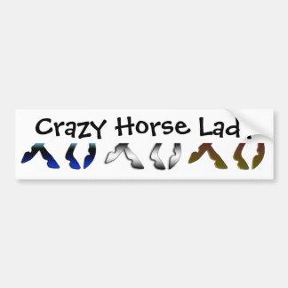 Crazy Horse Lady Bumper Sticker