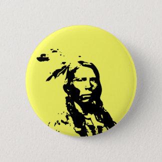 Crazy Horse Native American 2 Inch Round Button