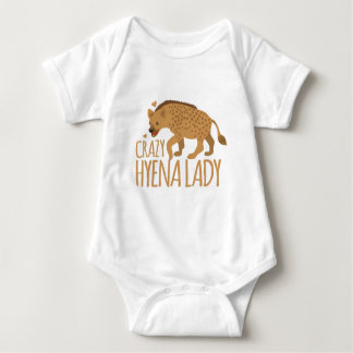 crazy hyena lady baby bodysuit