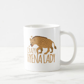 crazy hyena lady coffee mug