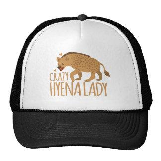 crazy hyena lady trucker hat