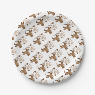 crazy impala lady 7 inch paper plate