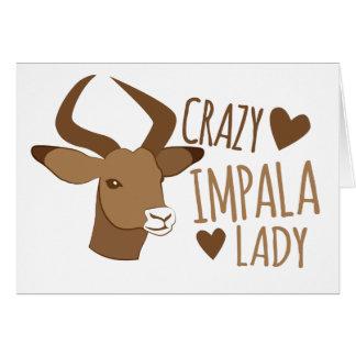 crazy impala lady card