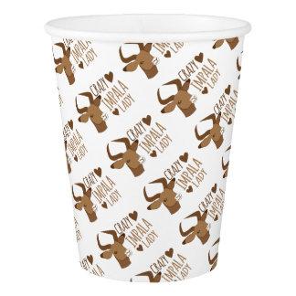 crazy impala lady paper cup