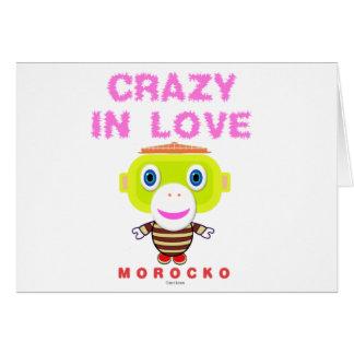Crazy in love-Cute Monkey-Morocko Card