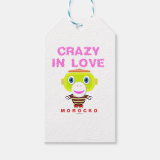 Crazy in love-Cute Monkey-Morocko Gift Tags