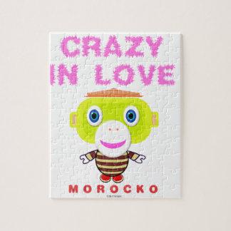 Crazy in love-Cute Monkey-Morocko Jigsaw Puzzle
