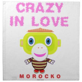 Crazy in love-Cute Monkey-Morocko Napkin