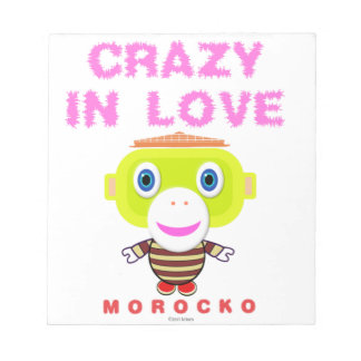 Crazy in love-Cute Monkey-Morocko Notepad