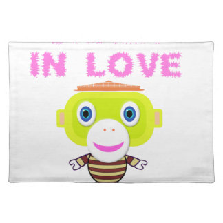 Crazy in love-Cute Monkey-Morocko Placemat