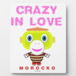 Crazy in love-Cute Monkey-Morocko Plaque