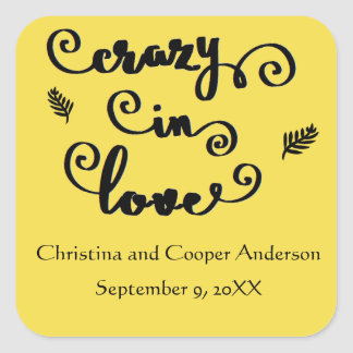 Crazy in Love - Square Sticker