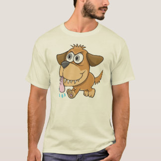 Crazy Insane Puppy Dog  T-Shirt